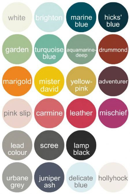 Paint colours for The Log Basket products